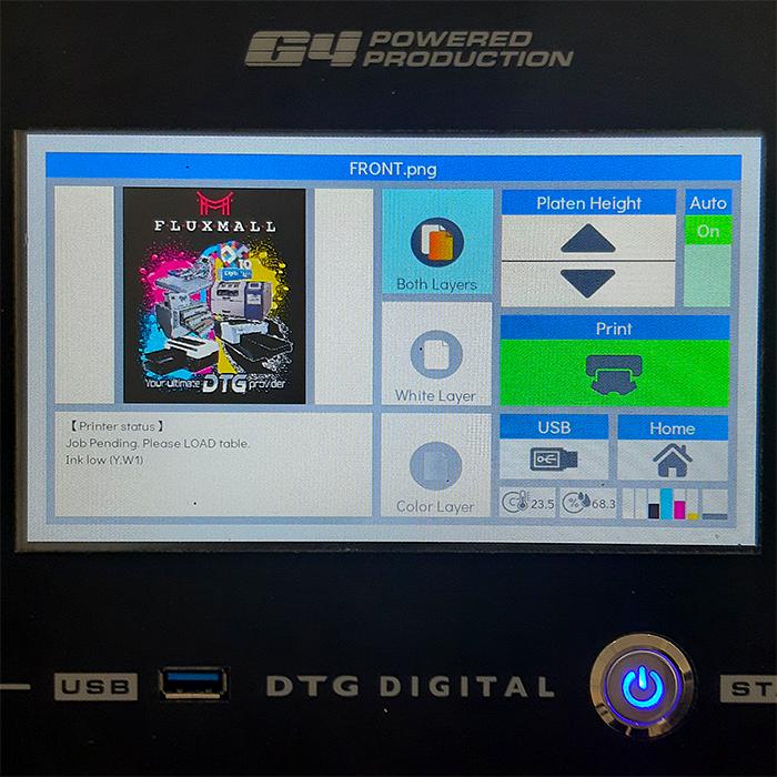 Print Queue - DTG G4 Direct To Garment Printer
