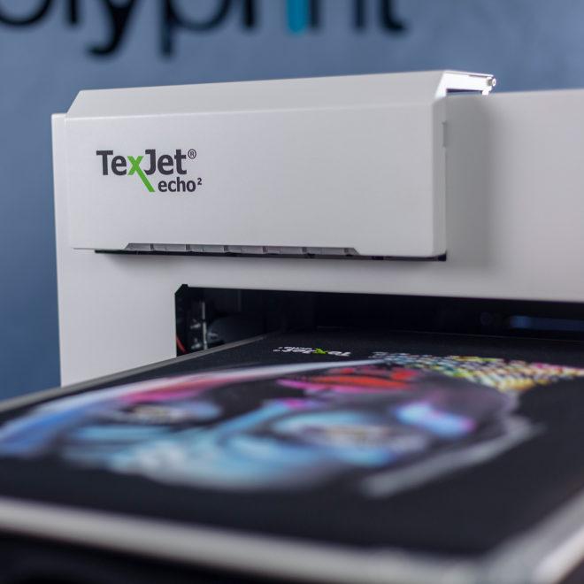 Front Cover - Máy in phun trực tiếp lên vải Polyprint TexJet echo²