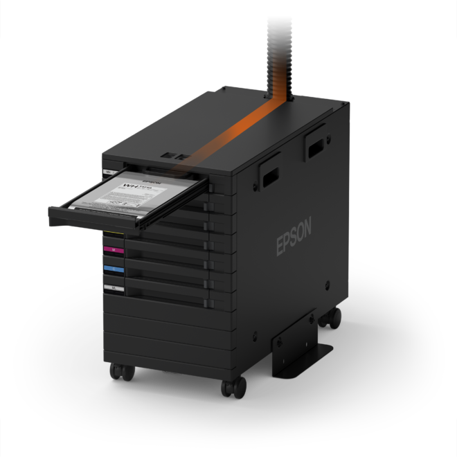 Integrated bulk ink system - Epson SureColor F3030 Direct To Garment Printer