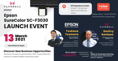 Speakers for Epson SureColor SC-F3030 Launch Event