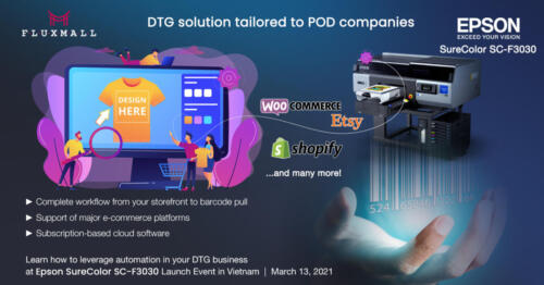 Epson SureColor SC-F3030 - DTG solution tailored to POD companies