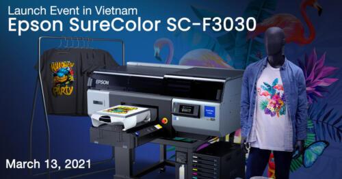 Epson SureColor SC-F3030 Launch Event