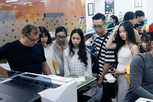 2. Hands-on expereinece with DTG printers