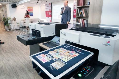 3. Polyprint Texjet echo and echo2 setup at the Workshop